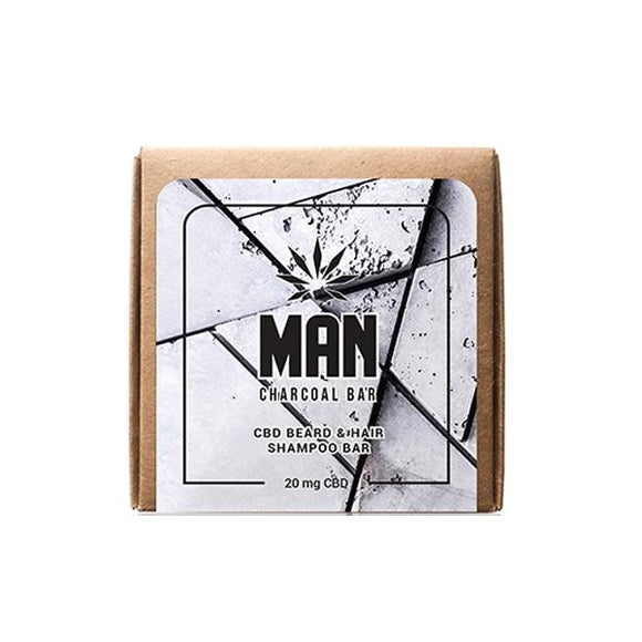 MAN 20mg CBD Charcoal Shampoo Bar 100g