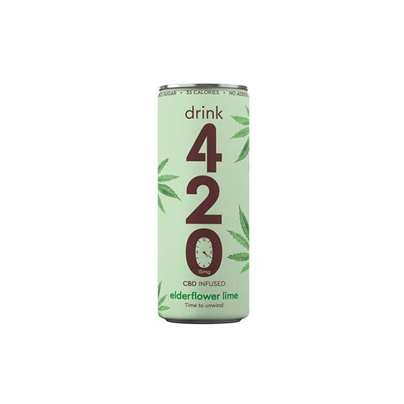 Drink 420 CBD 15mg Infused Sparkling Drink - Elderflower Lime