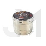 4 Parts Metal 50mm Grinder with Print HX012 - No1VapeTrail