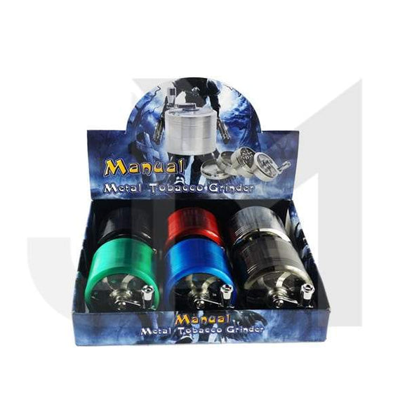 4 Parts Manual Metal Colour 60mm Grinder - HX060-SY - No1VapeTrail