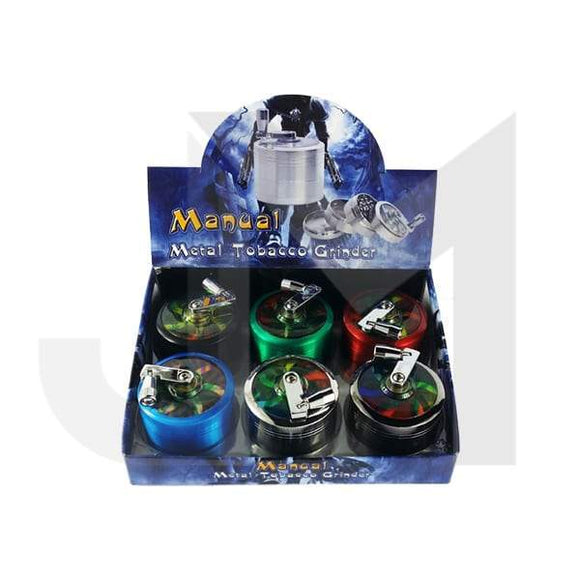 4 Parts Manual Metal Rasta Colour 60mm Grinder - HX060SY-4CP - No1VapeTrail