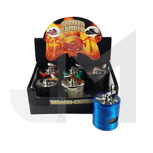 4 Parts Manual Metal Hatch Compartment 55mm Grinder - HX860KCSY-DYS - No1VapeTrail
