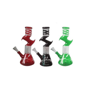 "12"" Zig Zag Mix Colour Percolator Glass Bong - GB-17"