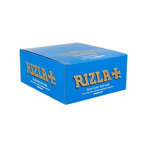 50 Blue King Size Slim Rizla Rolling Papers - No1VapeTrail