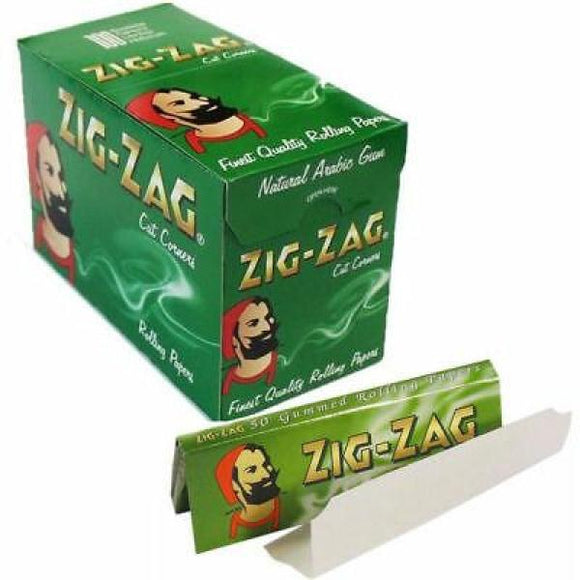 100 Zig-Zag Green Regular Size Rolling Papers - No1VapeTrail