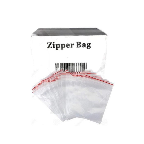 5 x Zipper Branded 30mm x 40mm Clear Baggies