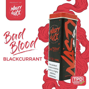 NASTY JUICE – BAD BLOOD E-LIQUID (10ML) - No1VapeTrail