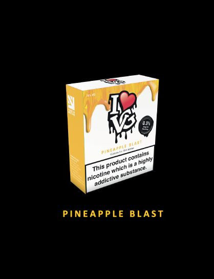I love VG Pineapple Blast   TPD Compliant 3x 10ml - No1VapeTrail