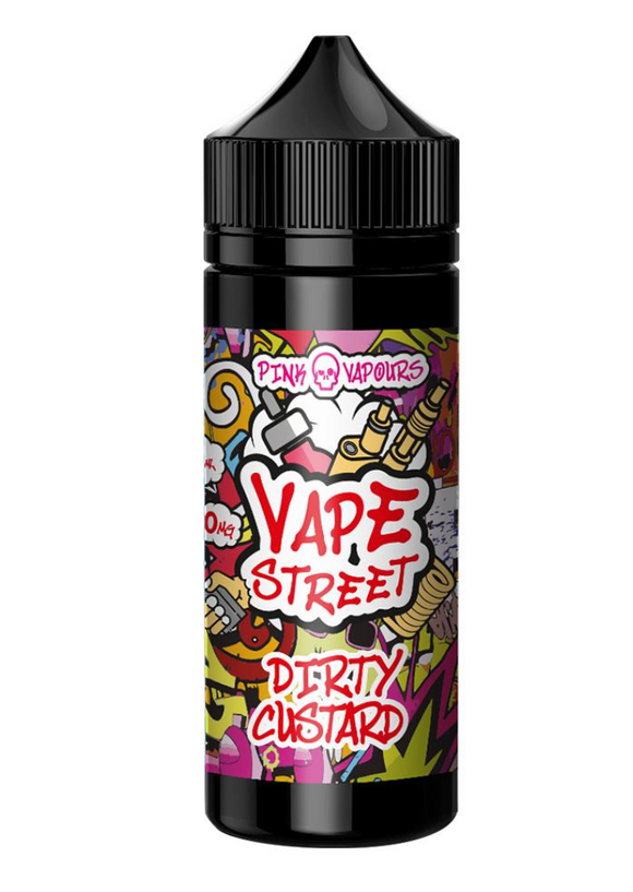 Old English Custard - Vape Avenue  Shake And Vape 70/30 50ml Short Filled Eliquid (Pink Skull Vapours) - No1VapeTrail