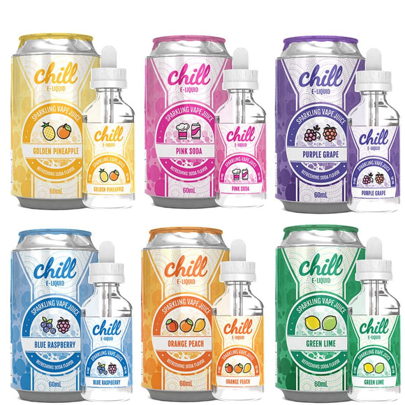 Chill E-Liquid 60ml (All Flavours) + Free Nic Shot - No1VapeTrail