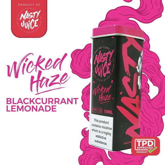 NASTY JUICE – WICKED HAZE E-LIQUID (10ML) - No1VapeTrail
