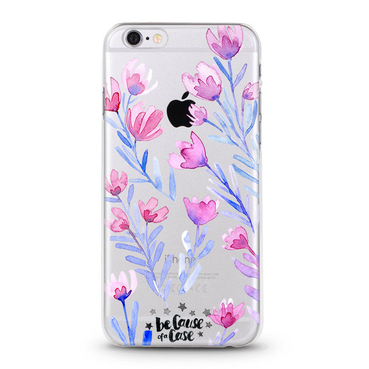 online store 64dd4 8f596 Floral Clear Case