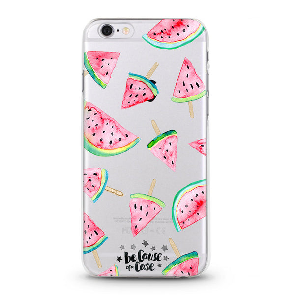 Watermelon Popsicles Clear Case - Because of a Case