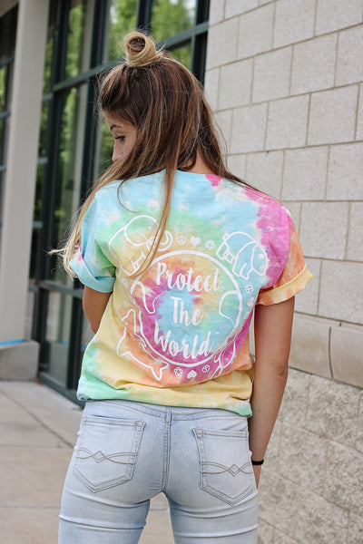 Protect The World Rainbow Tie Dye T-Shirt - Because of a Case