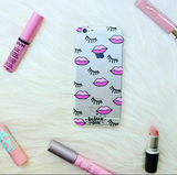 Pink Lips and Lashes Clear Case - Because of a Case