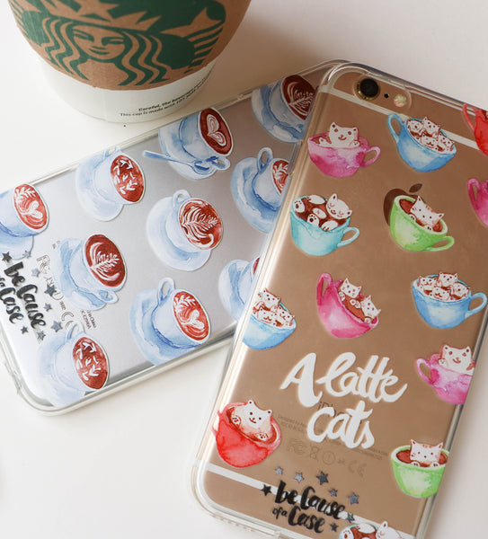 A Latte Cats Clear Case - Because of a Case