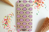 Cupcake Lips Clear Case - Because of a Case