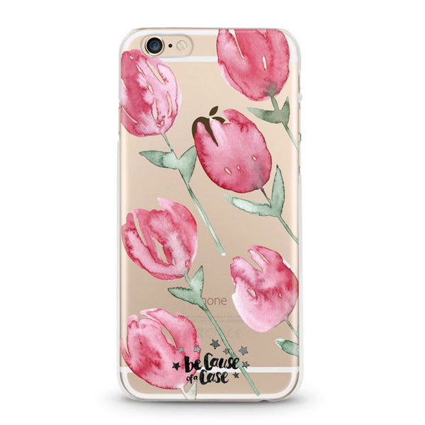 Roses Clear Case - Because of a Case