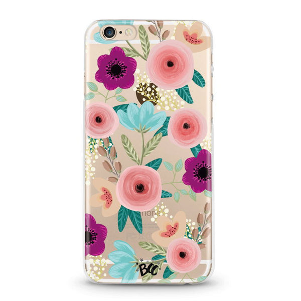 Sweetest Floral Clear Case - Because of a Case
