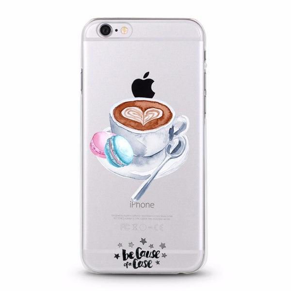 Single Latte Clear Case - Because of a Case
