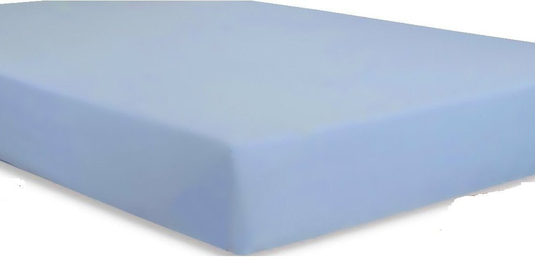 Baby Crib Fitted Sheet - Light Blue (2 Pack)