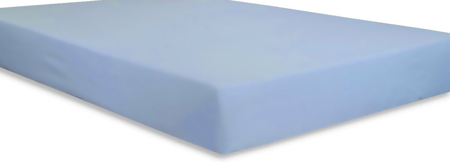 Cotton Sateen Fitted Sheet (Blue)