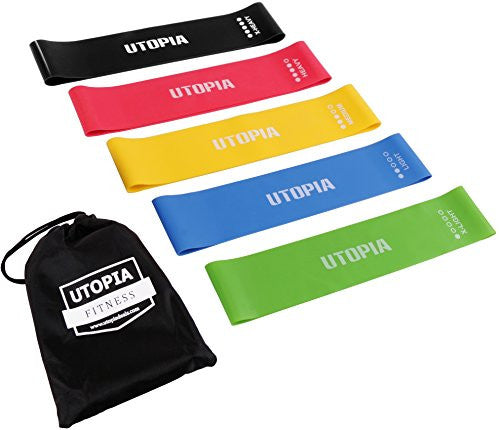 Utopia Fitness Resistance Loop Bands (5 Set) for Toning Muscles, Arms, Legs, Back And Buttocks