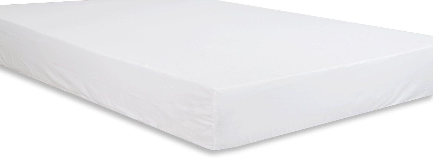 Cotton Sateen Fitted Sheet (White)