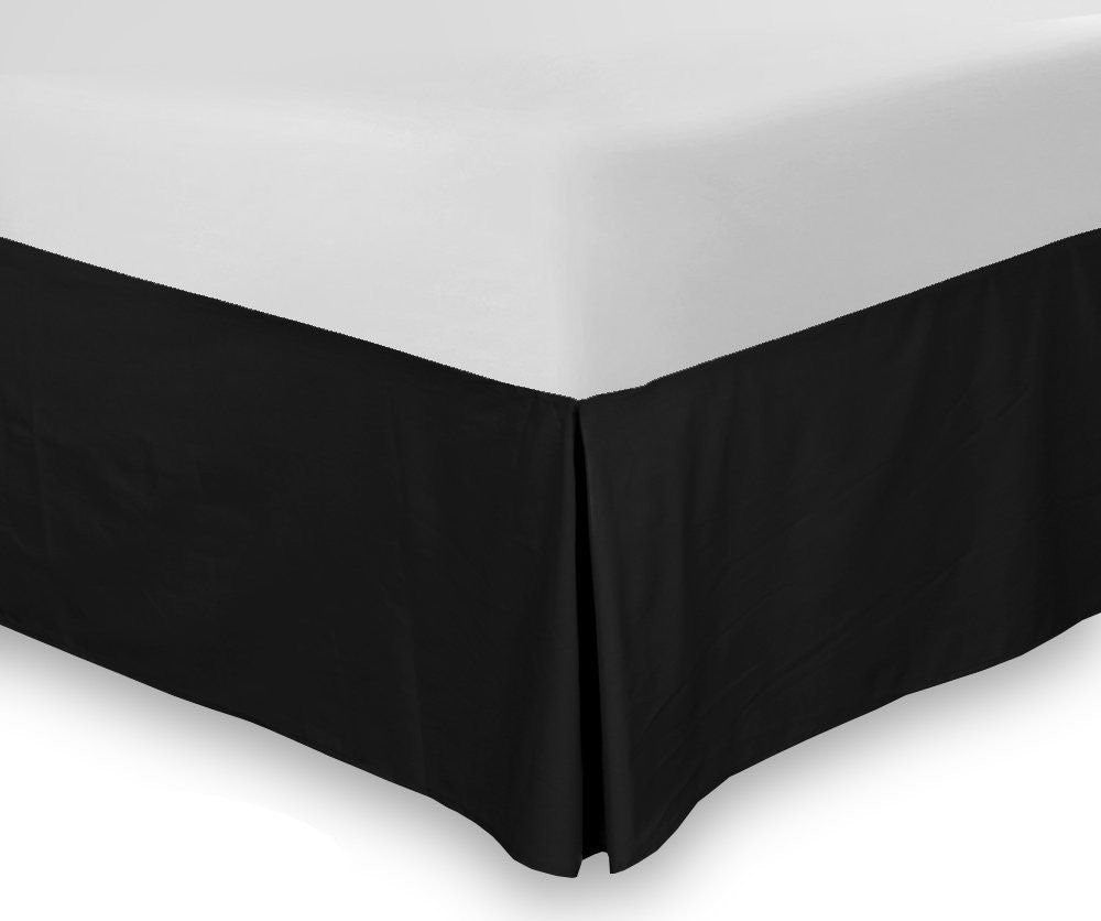 Combed Cotton Bed-Skirt (Black)
