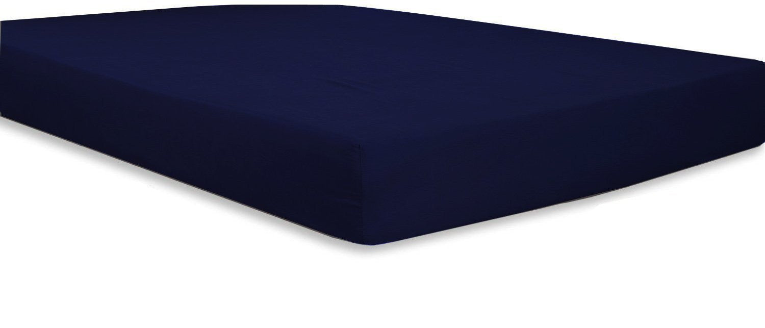 Cotton Sateen Fitted Sheet (Navy)