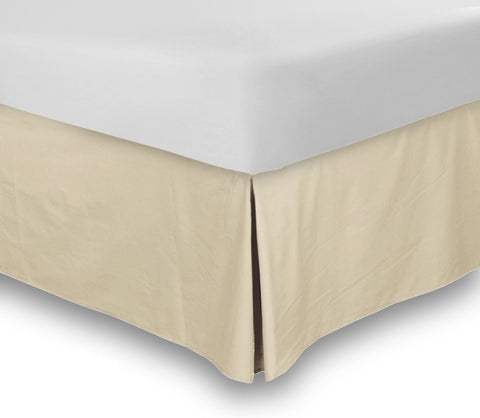 Bed Skirt (Queen Beige, 16 Inch Fall)