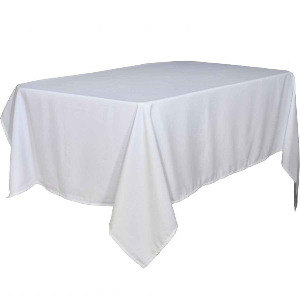 White Rectangular Tablecloth 60 x 102-Inch