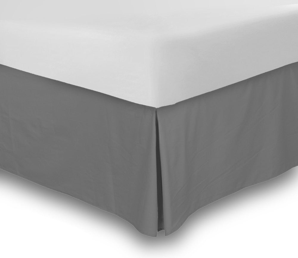 Bed Skirt (Queen Grey, 16 Inch Fall)