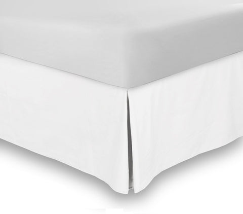 Bed Skirt (Queen White, 16 Inch Fall)