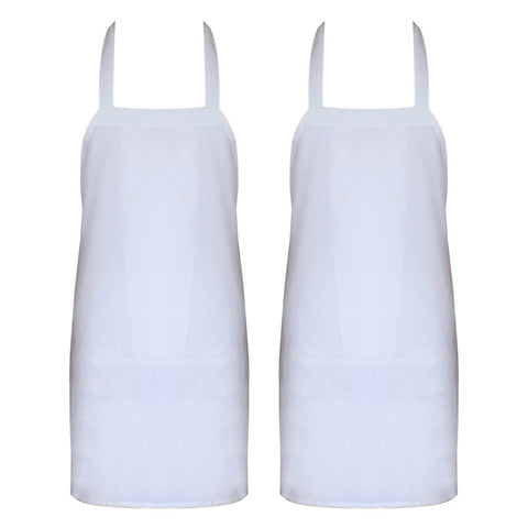 Professional Bib Apron (Black - 2 Pack)