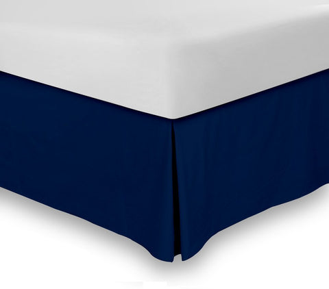 Combed Cotton Bed-Skirt (Navy)