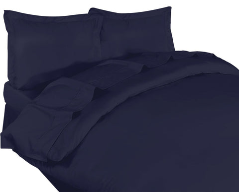 3 Piece Duvet Cover Set Navy Blue