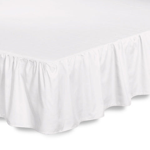 Ruffle Bed Skirt (White)
