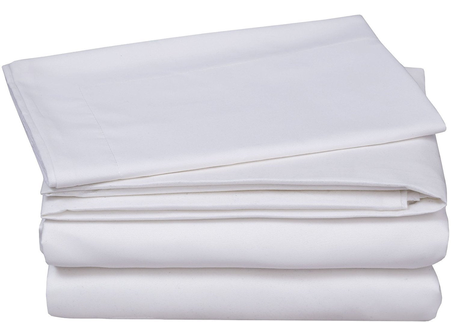 3 Piece Bed Sheet Set (White)
