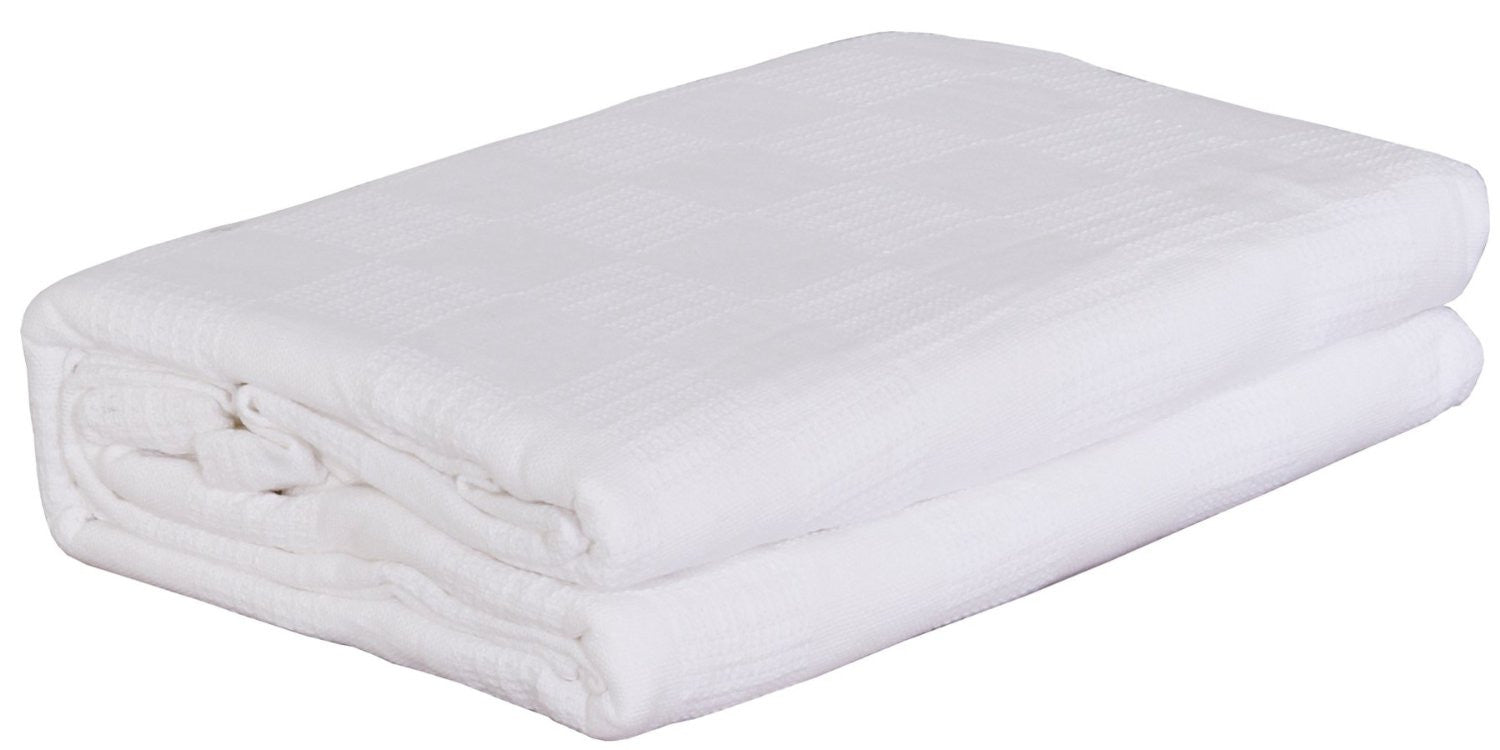 Cotton Throw Blanket (White)