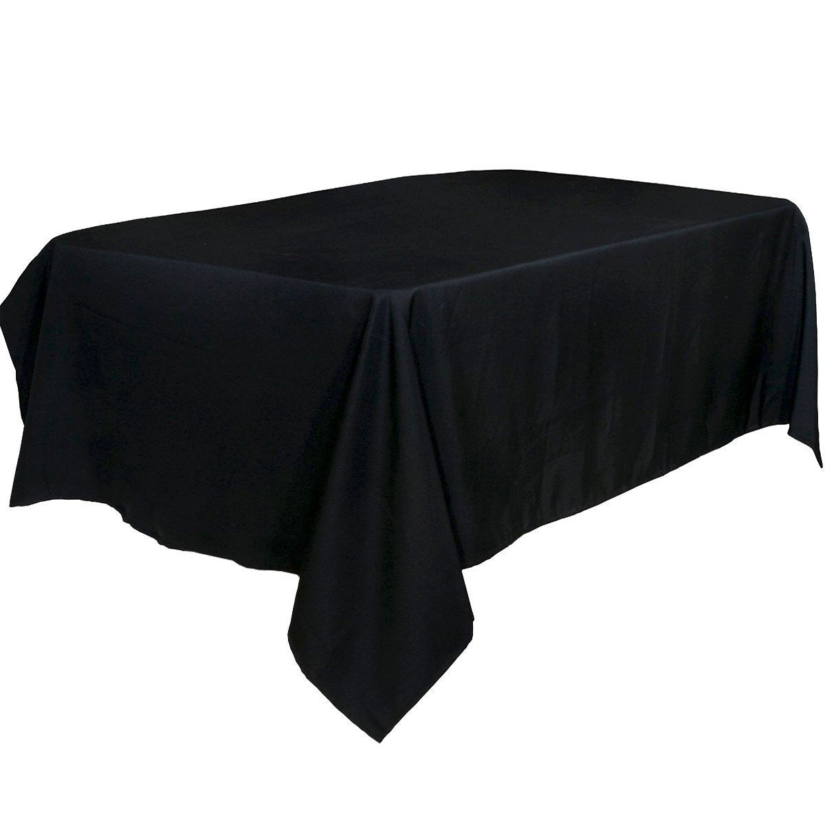 Black Rectangular Tablecloth 60 x 102-Inch