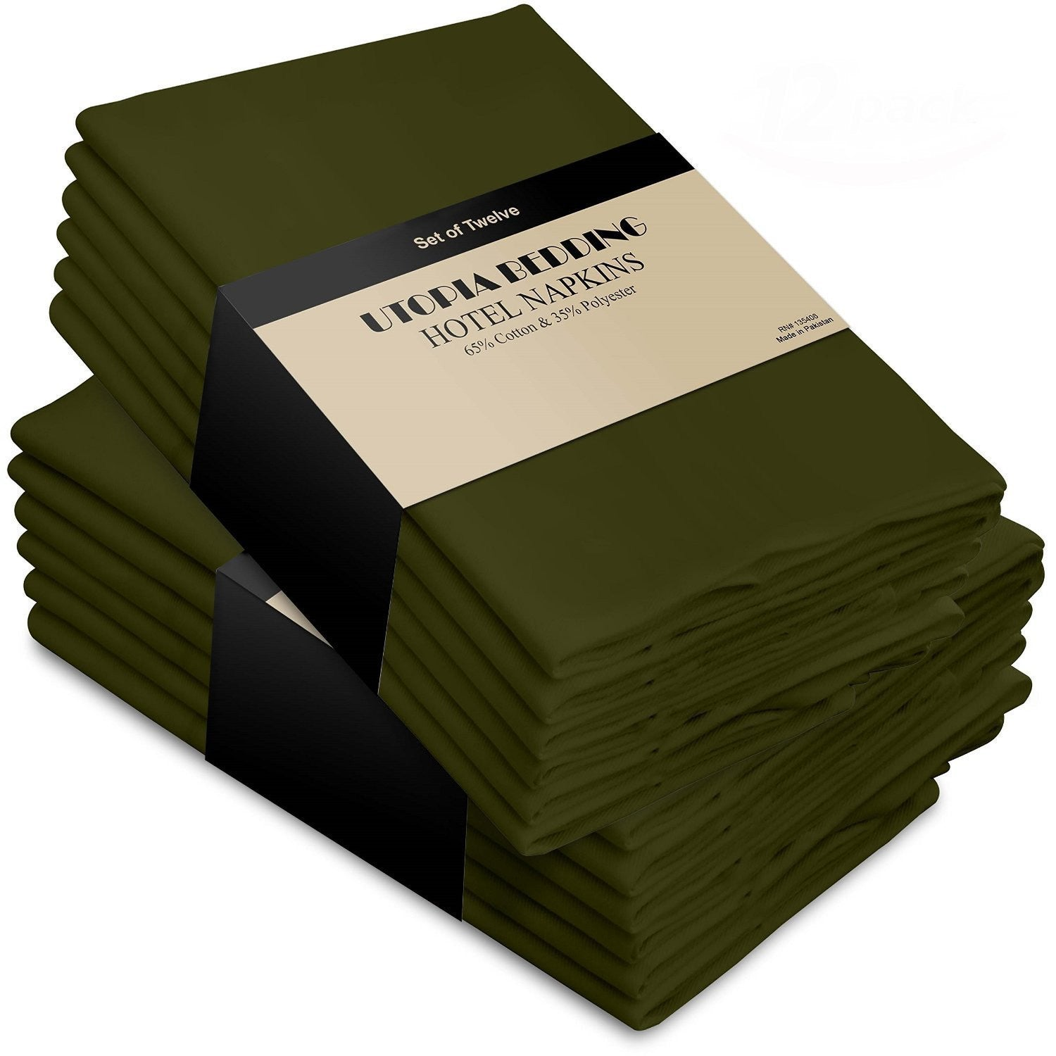 Cotton Dinner Napkins Olive