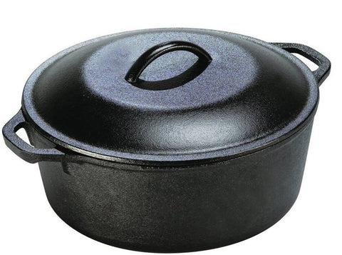 Pre Seasoned Cast Iron Dutch Oven 5 Quarts