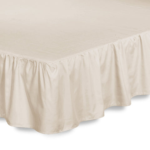 Ruffle Bed Skirt (Beige)