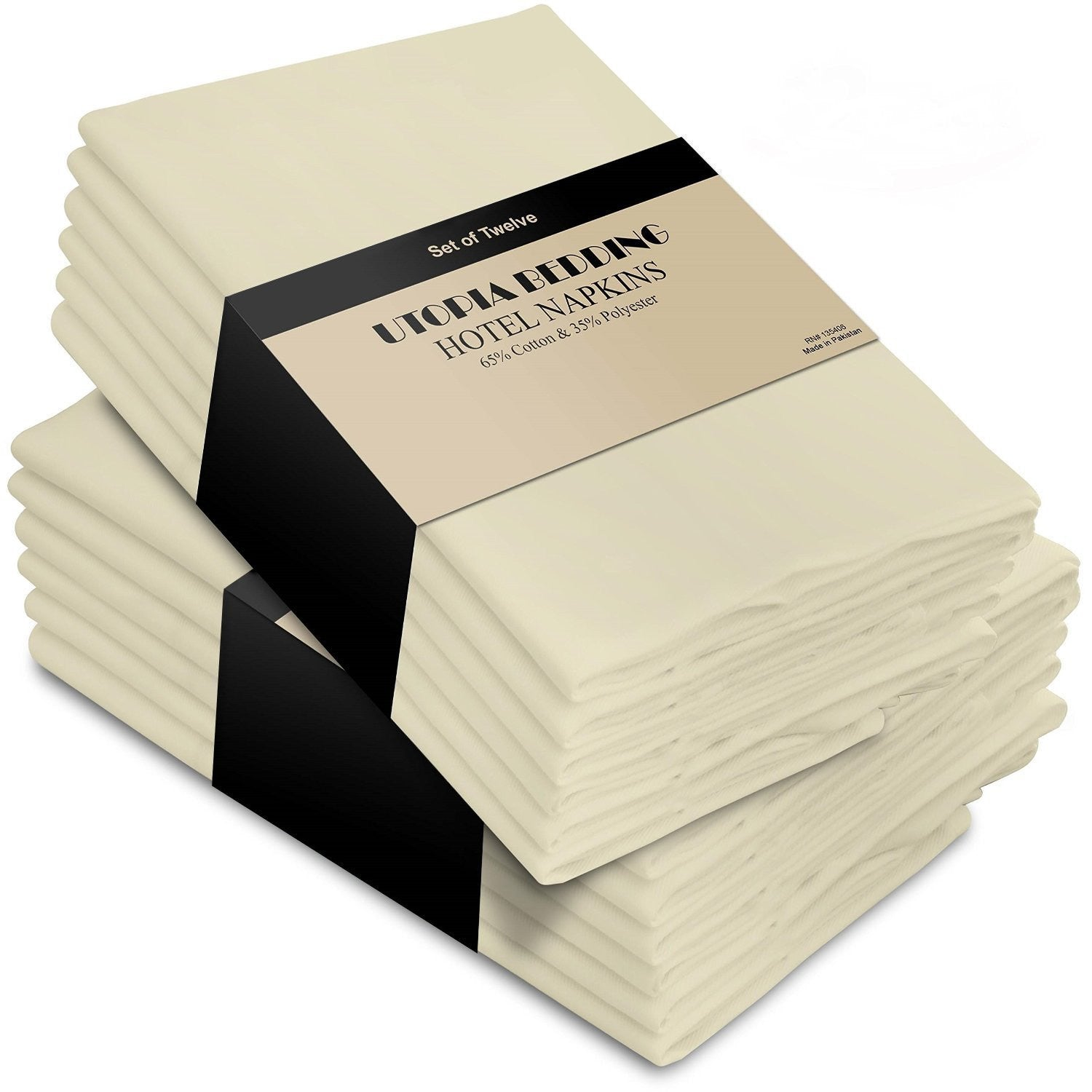 Cotton Dinner Napkins Ivory