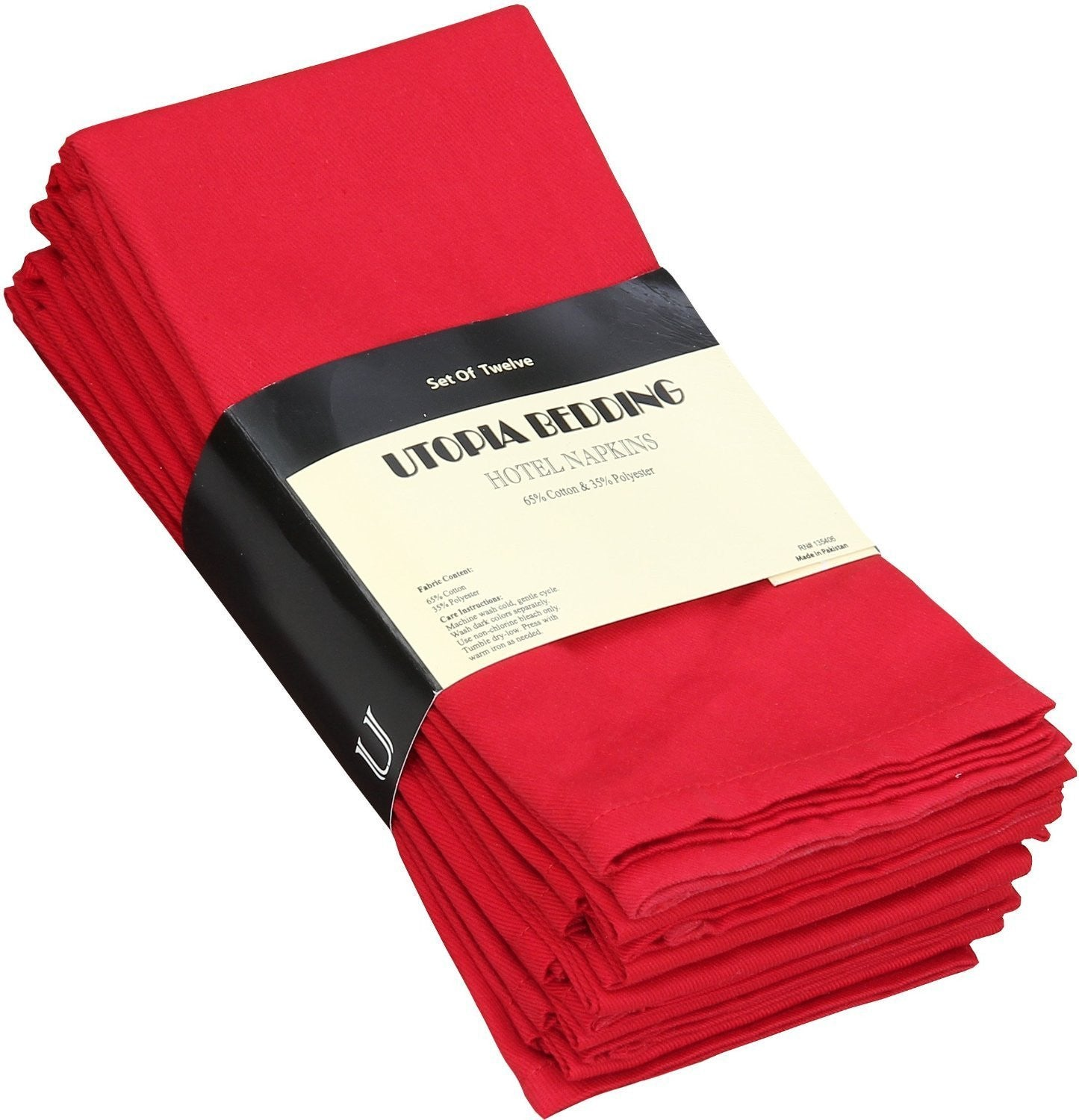 Cotton Dinner Napkins Red