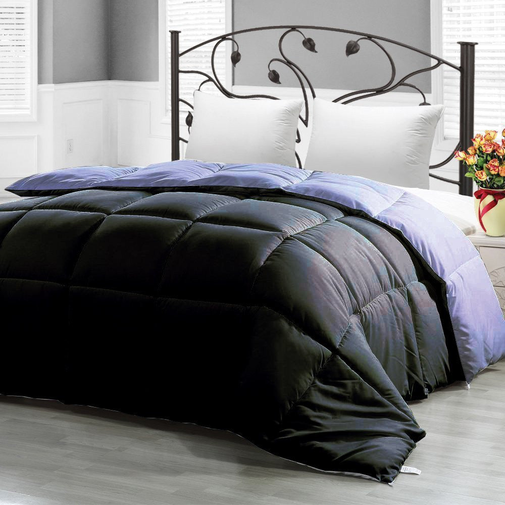 COMFORTER REVERSIBLE BLACK (BLACK/GREY)