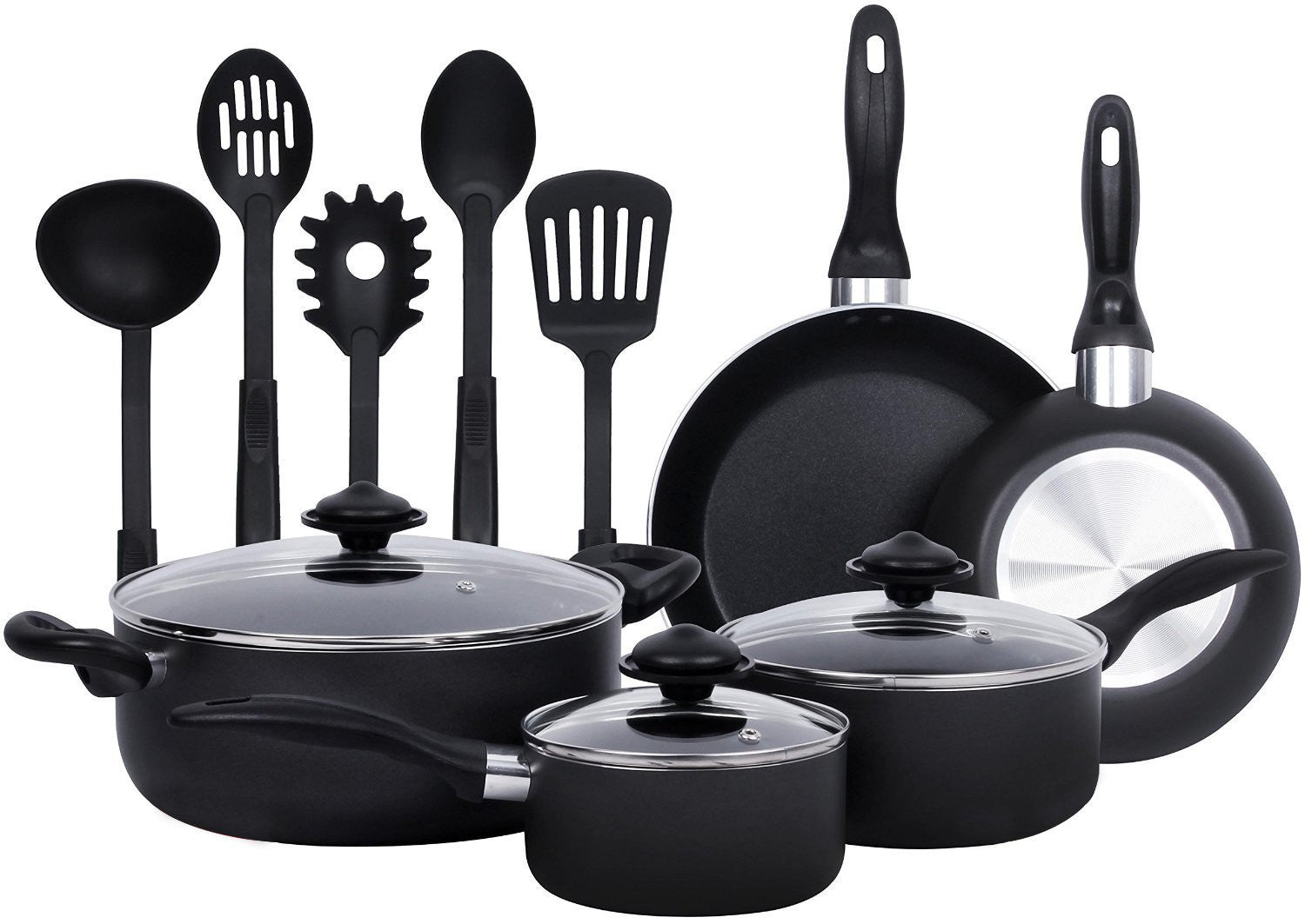 13-Pieces - Heavy Duty Cookware Set