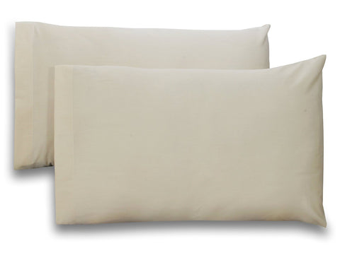 Cotton Pillow Cases (Beige)