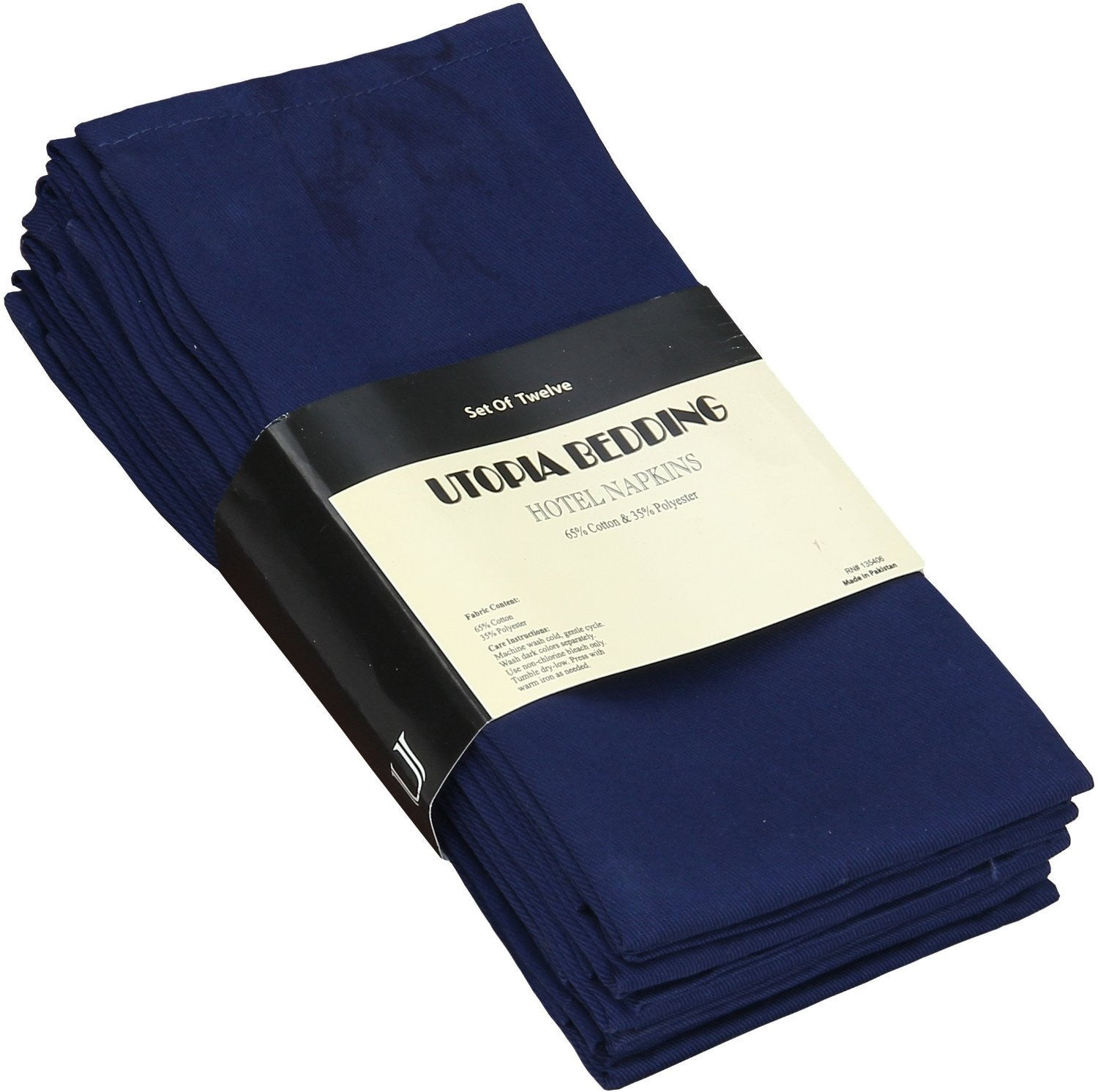 Cotton Dinner Napkins Navy